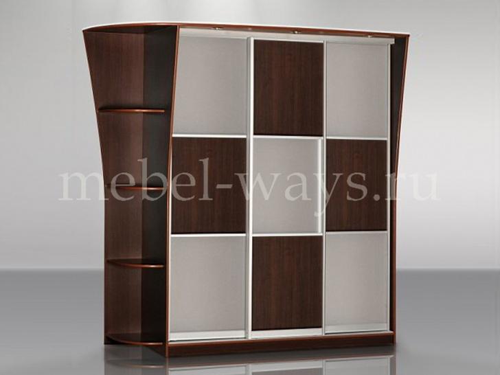 Шкаф-купе со стеклянными вставками «Концепт – 12»