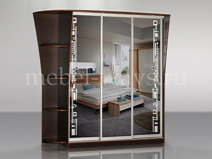 Красивый шкаф-купе в спальню «Концепт – 17»