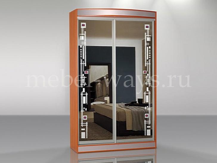 Двухдверный зеркальный шкаф-купе «Концепт – 7»