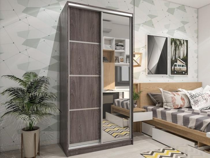 Шкаф-купе с зеркалом в спальню «Манхеттен – 10»