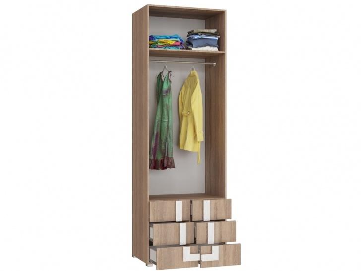 Шкаф с антресолью в прихожую «Дизайн Люкс – 32» внутри