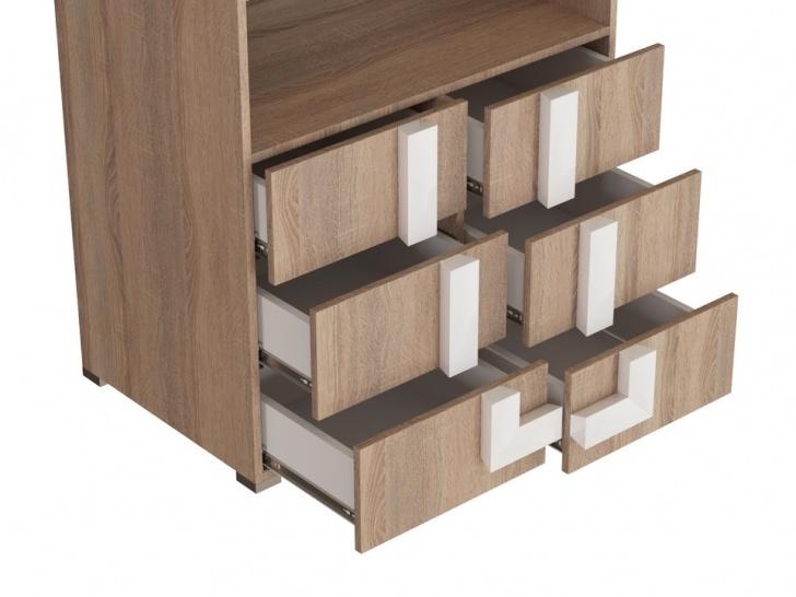 Шкаф с антресолью в прихожую «Дизайн Люкс – 32» с ящиками