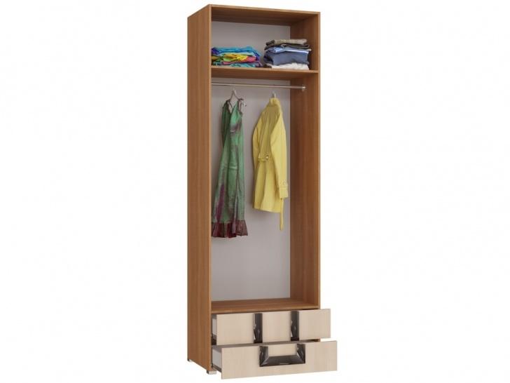 Шкаф с антресолью в спальню «Дизайн Люкс – 33» внутри