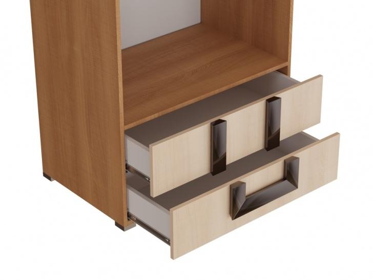 Шкаф с антресолью в спальню «Дизайн Люкс – 33» с ящиками