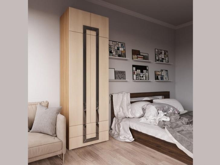 Шкаф с антресолью в спальню «Дизайн Люкс – 33»