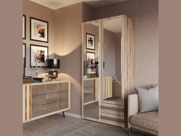 Шкаф с зеркалами «Дизайн Люкс – 9»