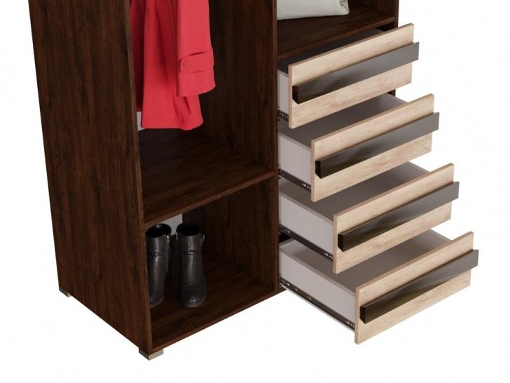 Шкаф с зеркальными дверцами «Дизайн Люкс – 8» с ящиками