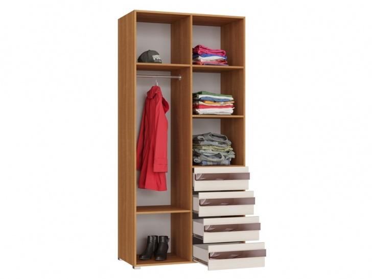 Шкаф со встроенным комодом «Дизайн Люкс – 4» внутри