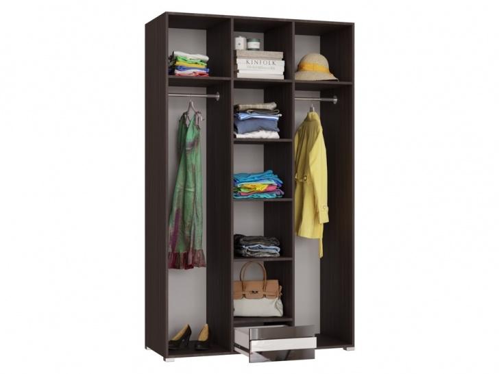 Шкаф в спальню с распашными дверями «Дизайн Люкс – 23» внутри
