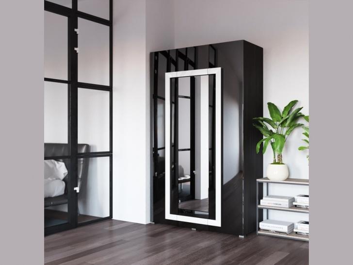 Шкаф в спальню с распашными дверями «Дизайн Люкс – 23»
