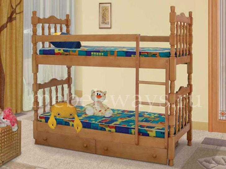 Двухъярусная кровать с высокими бортами «Шрэк-2»