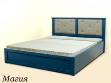 Синяя двуспальная кровать «Магия»