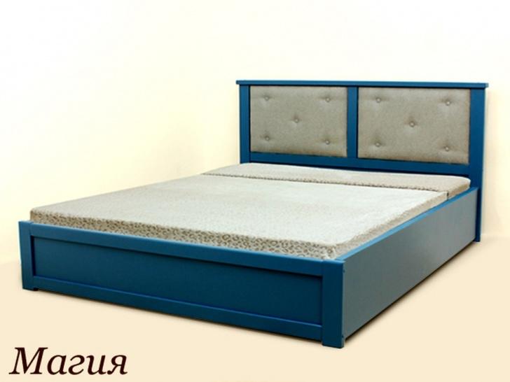 """Синяя двуспальная кровать """"Магия"""""""