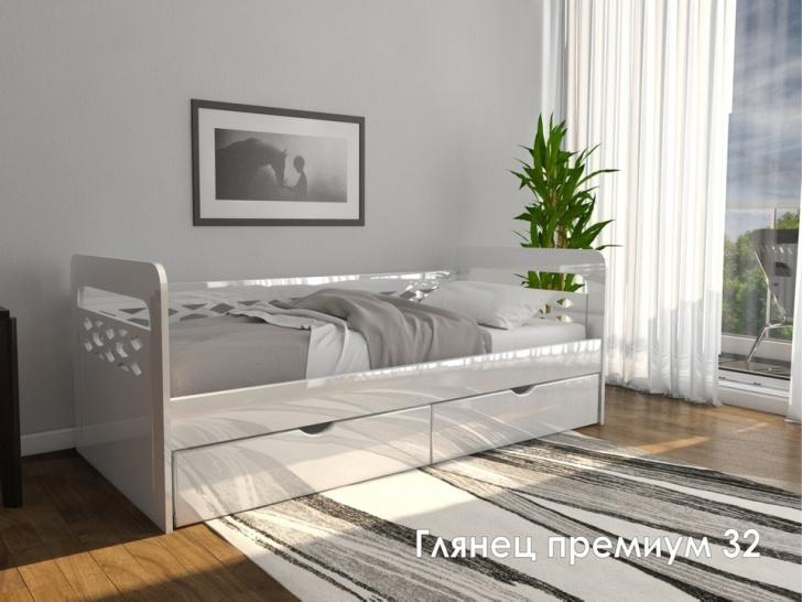 Стильная детская кровать из МДФ «Глянец Премиум - 32»