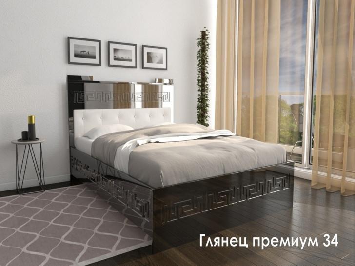 Стильная двуспальная кровать «Глянец Премиум - 34»
