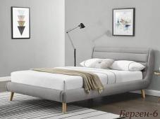 Стильная кровать с удобным мягким изголовьем «Берген-6»