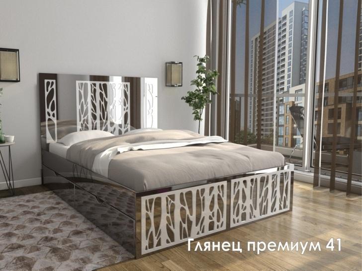 Стильная современная кровать «Глянец Премиум – 41»