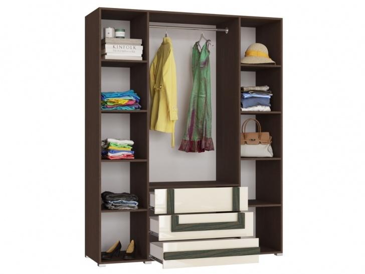 Стильный распашной шкаф «Дизайн Люкс – 21» внутри