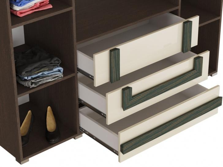 Стильный распашной шкаф «Дизайн Люкс – 21» с ящиками