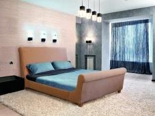 Мягкая кровать с высокими спинками «Текмесса»
