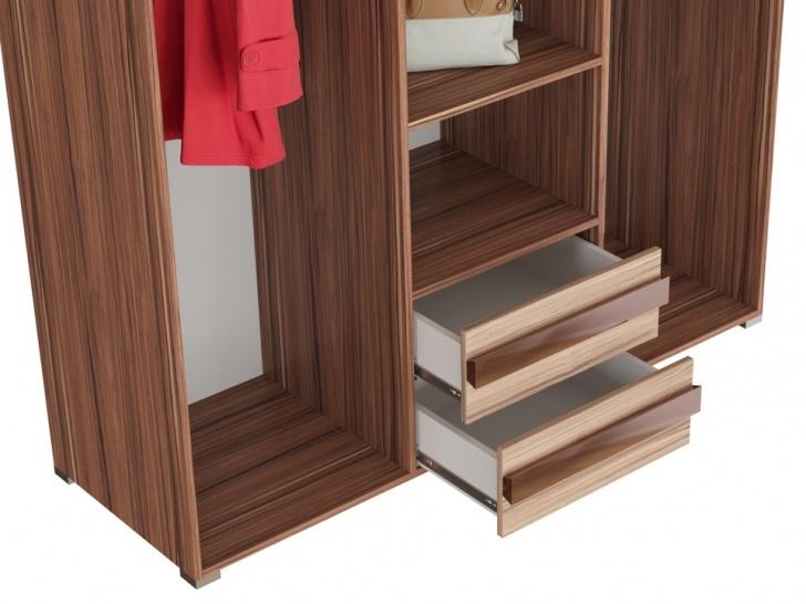 Трехстворчатый шкаф «Дизайн Люкс – 7» с ящиками