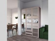 Трехстворчатый шкаф с зеркалами «Дизайн Люкс – 10»