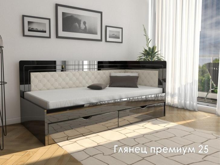 Угловая кровать МДФ «Глянец Премиум – 25»