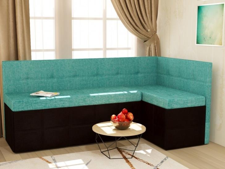 Угловой диван цвета морской волны «Грета – 18»