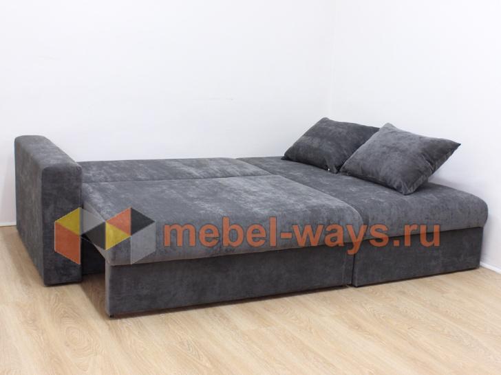 Угловой диван-еврокнижка «Гамбург» с подушками