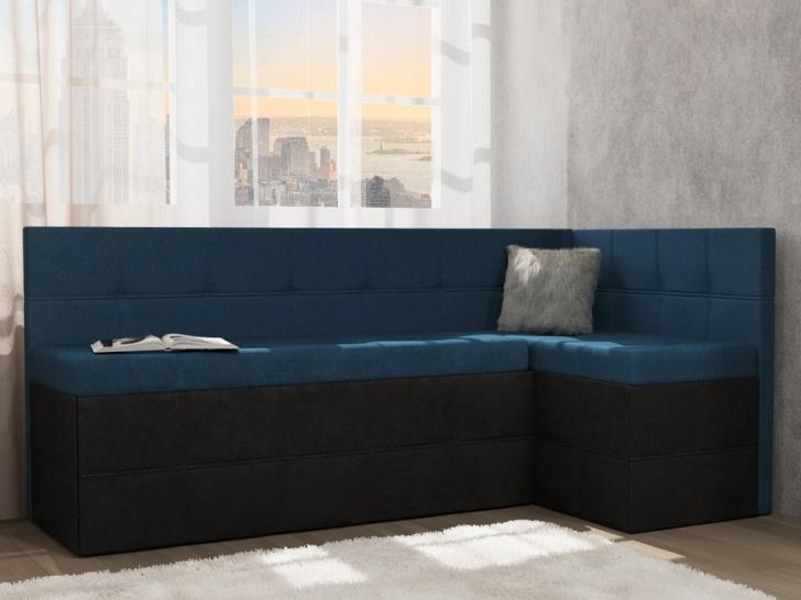 Угловой синий диван «Грета – 13»
