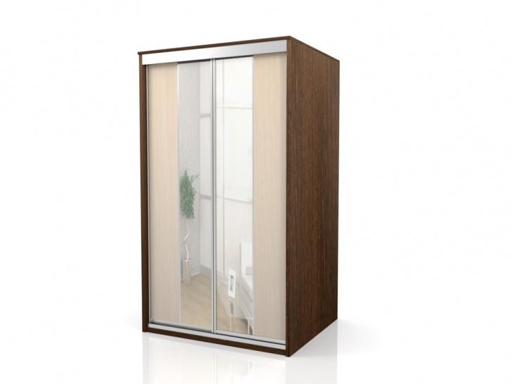 Узкий зеркальный шкаф-купе «Отличный – 9»