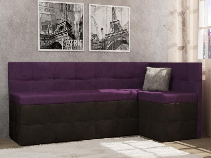 Яркий угловой фиолетовый диван «Грета – 9»