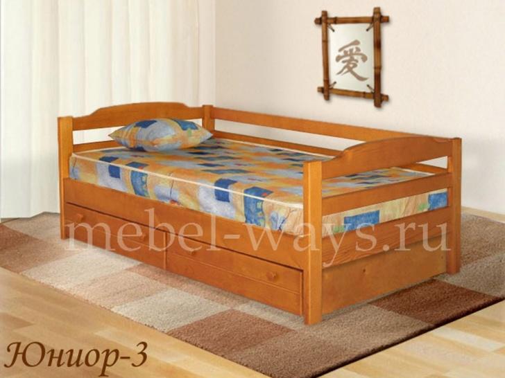 Кровать для детей с ящиками «Юниор-3»
