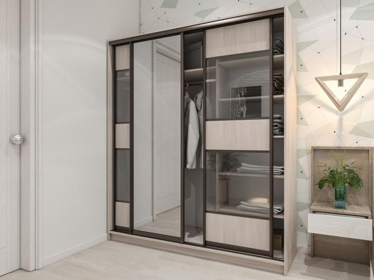 Зеркальный шкаф-купе в прихожую «Манхеттен – 32»