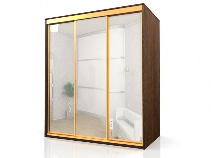 Зеркальный трехстворчатый шкаф-купе «Отличный – 5»