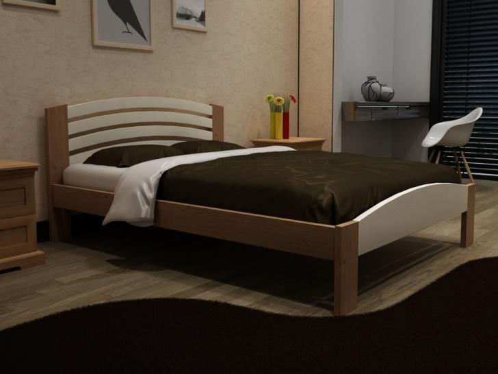 Женственная кровать с полукруглой спинкой «Идиллия-4»